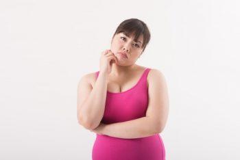 体型変化に悩む女性